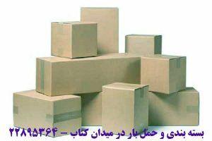 بسته بندی و حمل بار در میدان کتاب