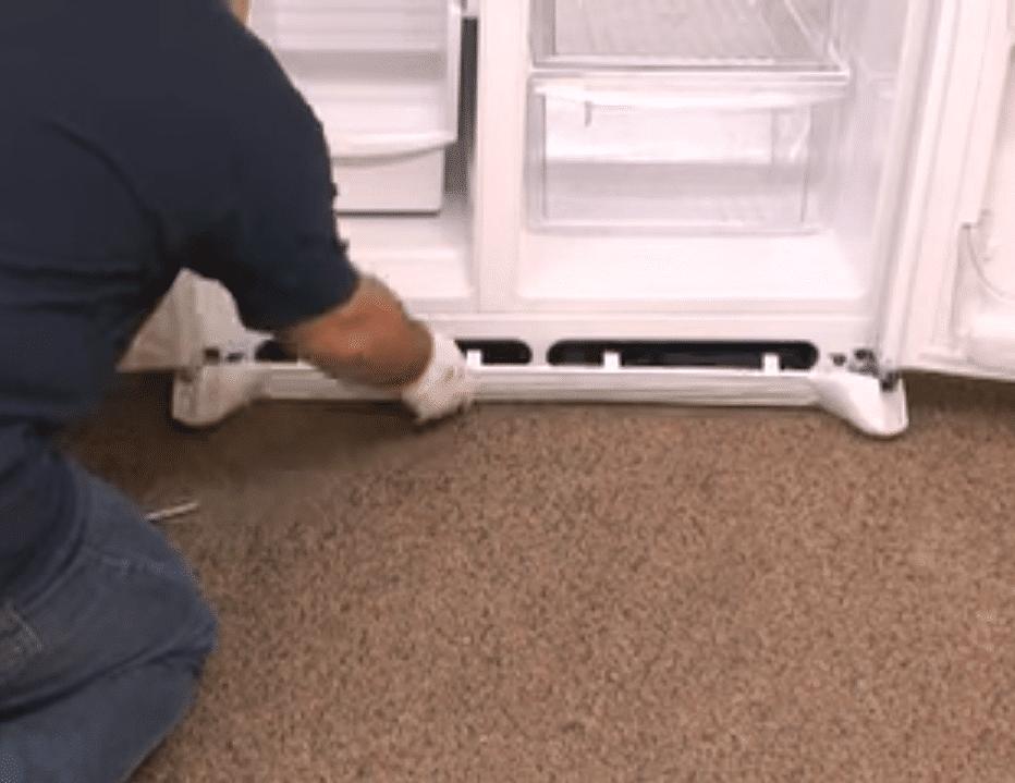 باز و بسته کردن درب یخچال ساید
