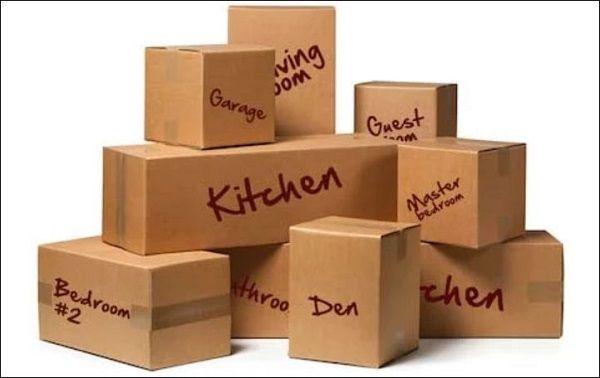 جعبه های بسته بندی را برچسب گذاری کنید