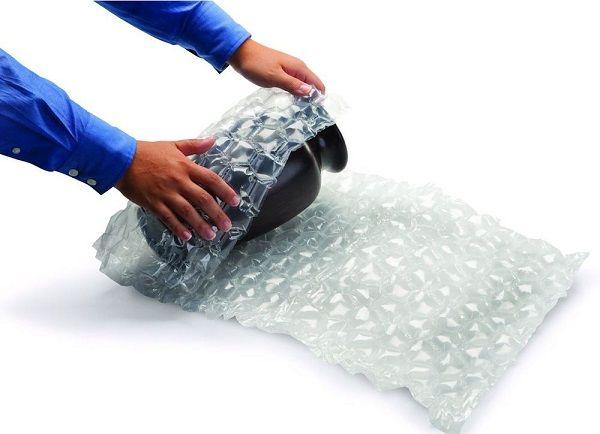 نحوه بسته بندی گلدان ها با پلاستیک حبابدار