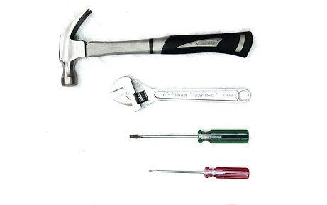 ابزار لازم برای جداسازی وسایل حجیم را آماده کنید.