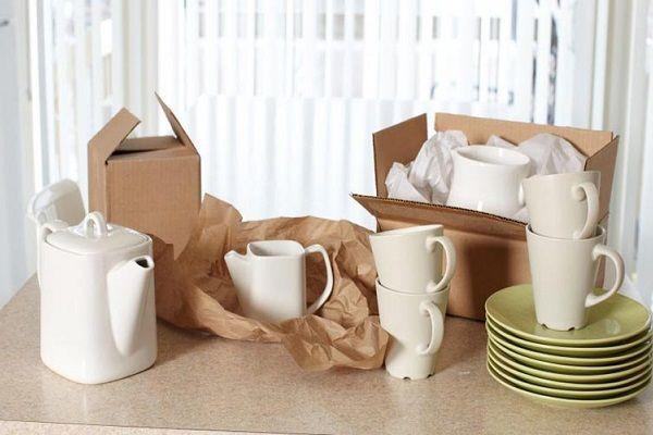 بسته بندی ظروف چینی در زمان اثاث کشی